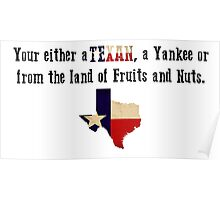 Be a Texan Poster