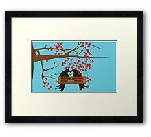 swinging crows Framed Print