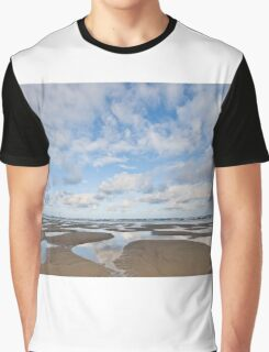 Pacific Ocean Beach at Low Tide Graphic T-Shirt