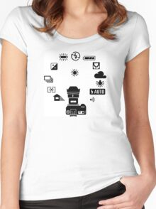 Camera settings control Dial Women's Fitted Scoop T-Shirt