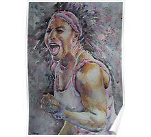 Serena Williams - Portrait 4 Poster