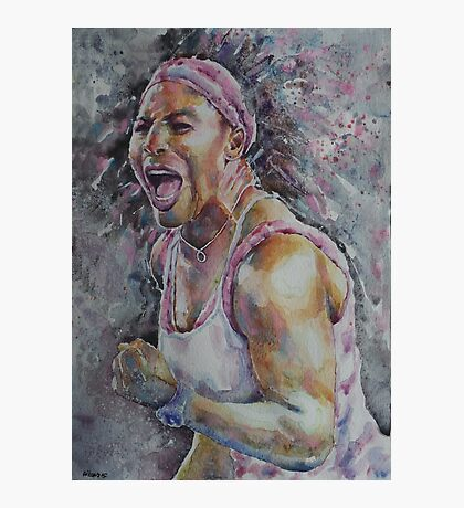 Serena Williams - Portrait 4 Photographic Print