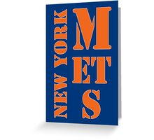 New York Mets Typo Greeting Card