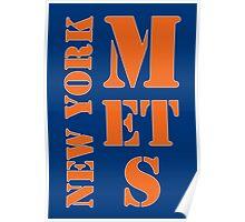 New York Mets Typo Poster