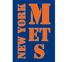 New York Mets Typo Photographic Print