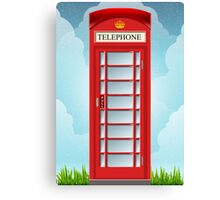 Vintage Telephone Box Canvas Print