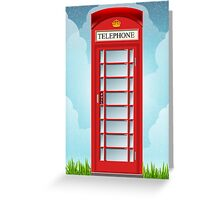 Vintage Telephone Box Greeting Card