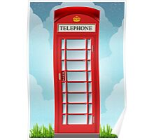 Vintage Telephone Box Poster