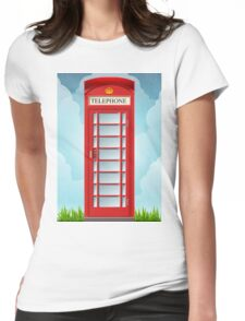 Vintage Telephone Box Womens Fitted T-Shirt