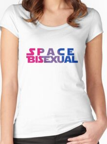 Space Bisexual Women's Fitted Scoop T-Shirt