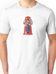 Retro Gum ball machine red Unisex T-Shirt