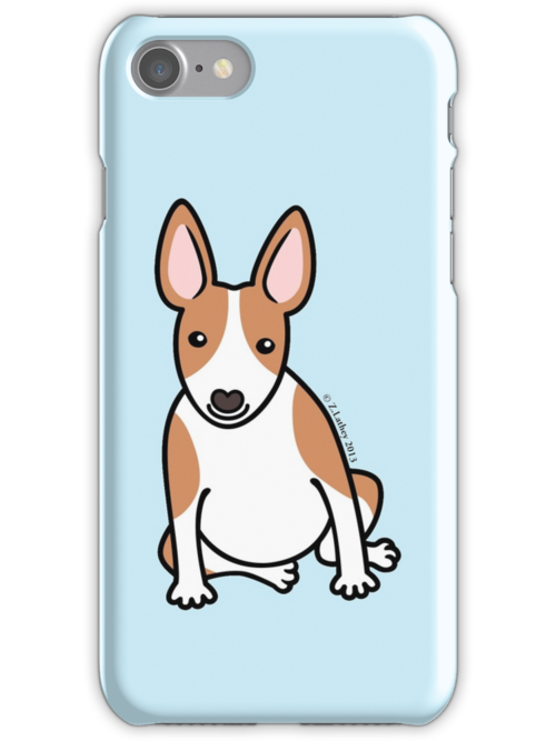 English Bull Terrier Puppy Dog ... brown & white by Zoe Lathey