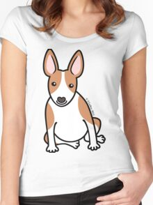 English Bull Terrier Puppy Dog ... brown & white Women's Fitted Scoop T-Shirt