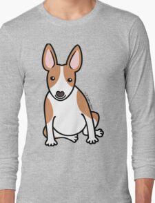 English Bull Terrier Puppy Dog ... brown & white Long Sleeve T-Shirt
