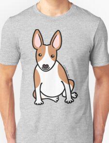 English Bull Terrier Puppy Dog ... brown & white T-Shirt