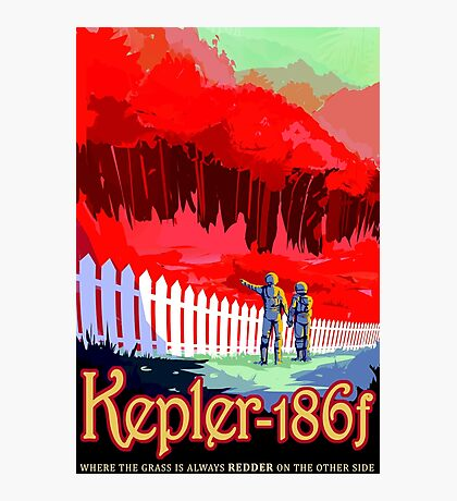 Visions of the future- Kepler-186f Photographic Print