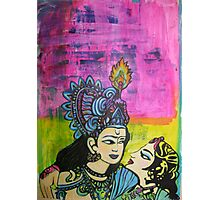 Us   Love themed pop art with vintage Indian imagery Photographic Print