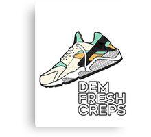 Dem Fresh Creps Canvas Print