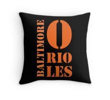 Baltimore Orioles Typography Throw Pillow