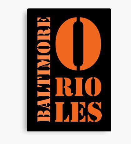 Baltimore Orioles Typography Canvas Print