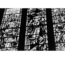 Black And White Stained Glass  Photographic Print