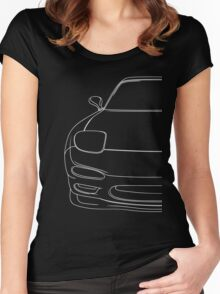 rx7 fd outline - white Women's Fitted Scoop T-Shirt