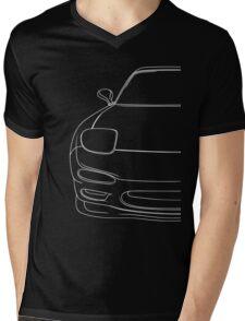 rx7 fd outline - white Mens V-Neck T-Shirt