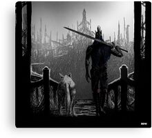 Artorias and Sif Canvas Print