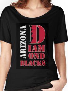 Arizona Diamondbacks typo logo Women's Relaxed Fit T-Shirt