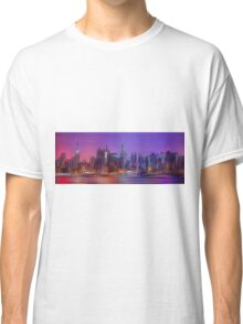 New York Skyline - digital abstract Classic T-Shirt