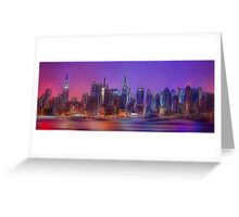 New York Skyline - digital abstract Greeting Card