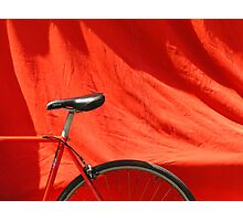 Red Bike Photographic Print