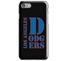Los Angeles Dodgers typo iPhone Case/Skin