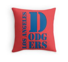 Los Angeles Dodgers Typography logo Throw Pillow