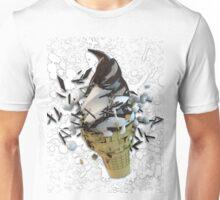chocolate dip ice cream cone explosion Unisex T-Shirt