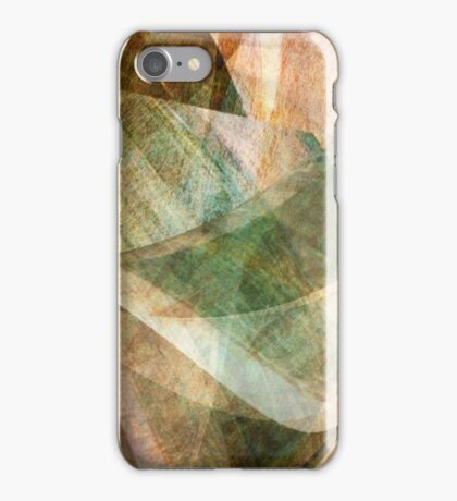 Swept Layers Abstract Digital Art iPhone Case/Skin