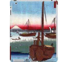 Utagawa Hiroshige Off Tsukuda Island iPad Case/Skin