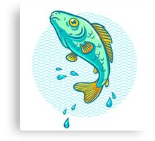 fish jumping out of water Canvas Print