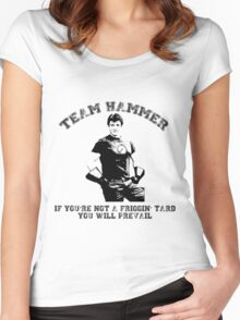 TEAM HAMMER Women's Fitted Scoop T-Shirt