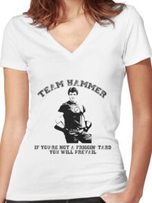 TEAM HAMMER Women's Fitted V-Neck T-Shirt