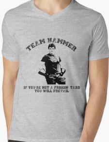 TEAM HAMMER Mens V-Neck T-Shirt
