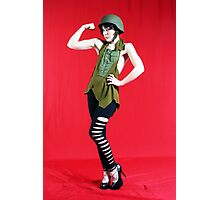 MIlitary Girl Photographic Print