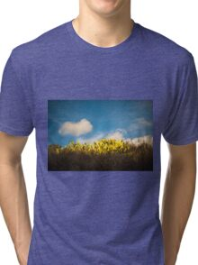 """""""In times of darkness, my heart stood by my side and the sun showed me light when there was none"""" Tri-blend T-Shirt"""