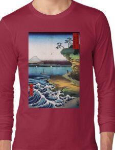 Utagawa Hiroshige The Hoda Coast Long Sleeve T-Shirt