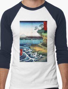 Utagawa Hiroshige The Hoda Coast Men's Baseball ¾ T-Shirt