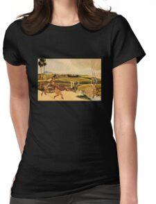 'Samurai Riding Horses' by Katsushika Hokusai (Reproduction) Womens Fitted T-Shirt