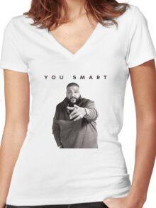 You Smart | DJ Khaled  Women's Fitted V-Neck T-Shirt