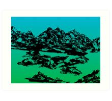 Mountain Range. Art Print