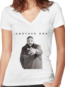 Another One!!! | DJ Khaled Women's Fitted V-Neck T-Shirt
