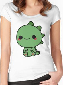Cute dino Women's Fitted Scoop T-Shirt